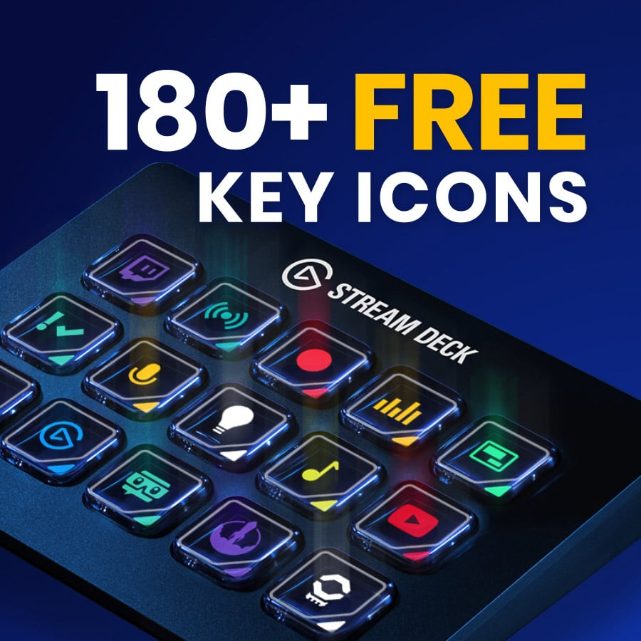 180 Free Icons for Stream Deck