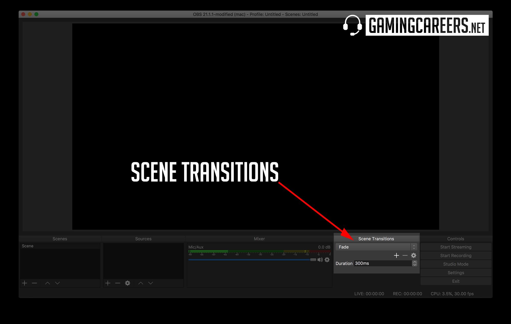 OBS Studio Twitch Guide Scene Transitions