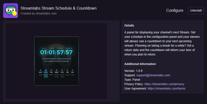 How to add a SMART Stream Schedule to your Twitch Channel