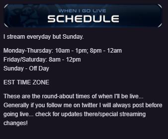 Stream Schedule and Countdown Extension - TimTheTatman