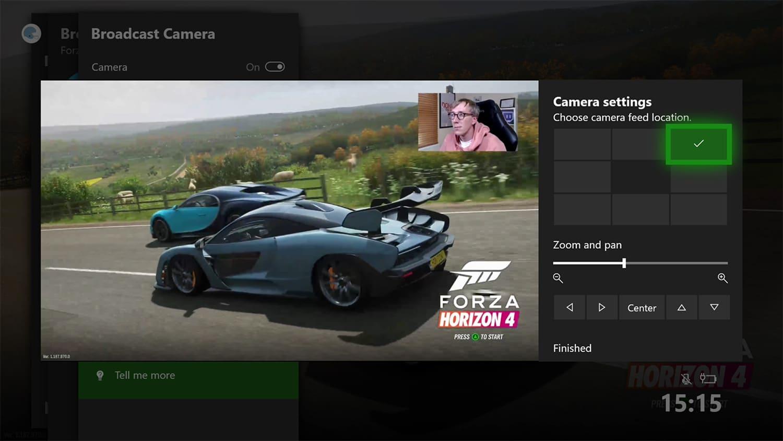 Xbox Mixer Webcam Positioning