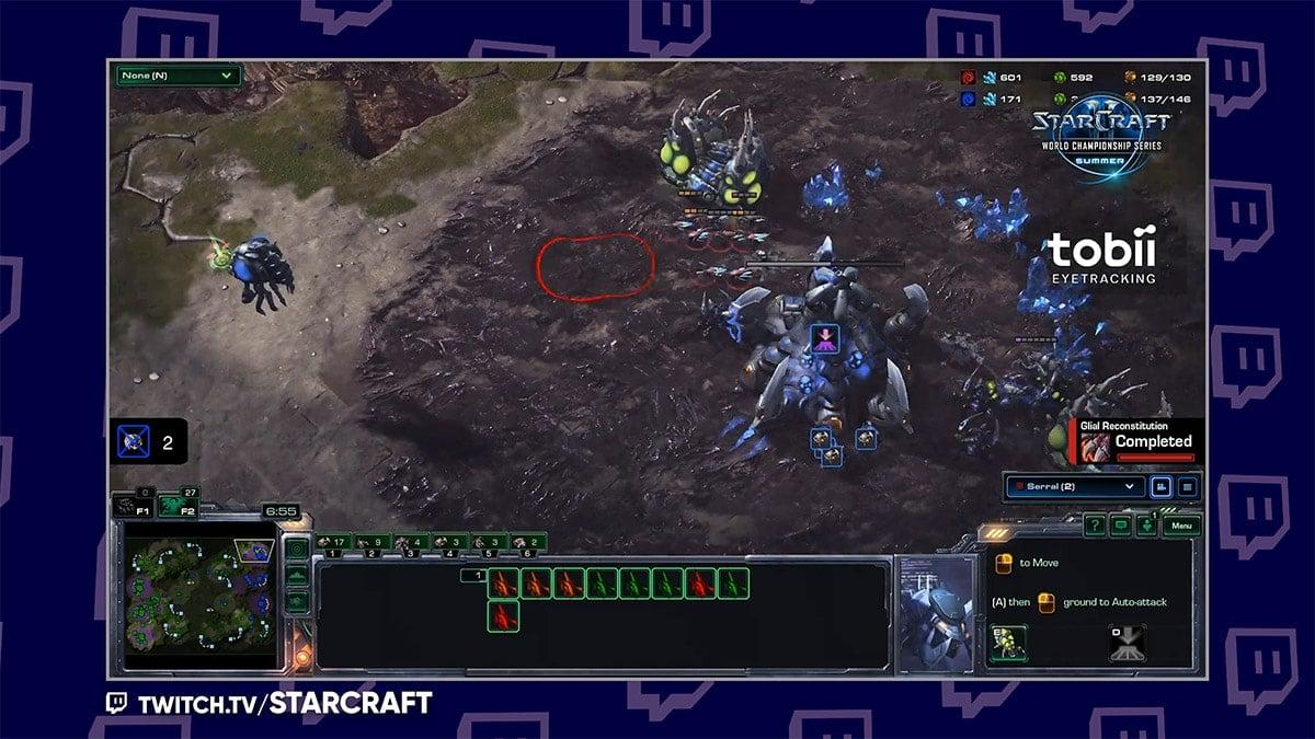 Tobii Ghost Eyetracker Example - starcraft